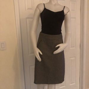 Banana Republic Brown Tweed Skirt 0